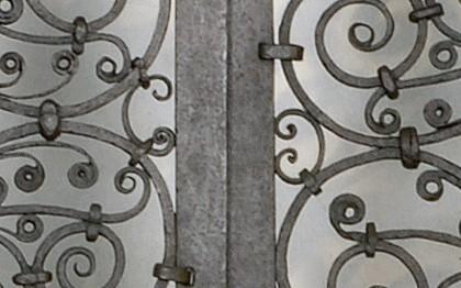 Porte du choeur de l'église d'Ourscamp