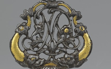 Cabinet key with monogram of Marie-Antoinette de Lorraine of Austria