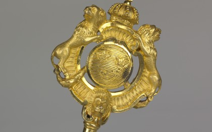 Chamberlain's key with Swedish coat-of-arms
