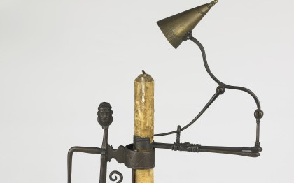 Candle holder with clip and snuffer